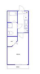 JR南武線 向河原駅 徒歩5分の賃貸アパート 1階1Kの間取り