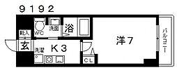 casa vera luce(カサベラルーチェ)[605号室号室]の間取り
