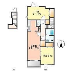 フェリーチェ2[2階]の間取り