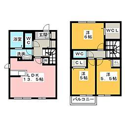 [一戸建] 静岡県浜松市中区蜆塚1丁目 の賃貸【/】の間取り