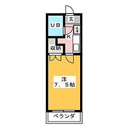 エクセレント住吉[2階]の間取り