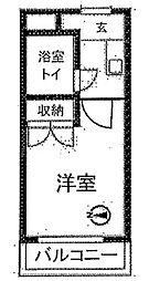 神奈川県川崎市多摩区枡形6丁目の賃貸マンションの間取り