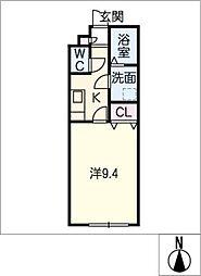 アンプルール ブワ Y・S[1階]の間取り