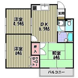 ベルシオン藤沢台[2階]の間取り