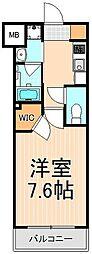 コンフォリア上野入谷[6階]の間取り