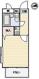 東京都足立区梅田5丁目の賃貸マンションの間取り