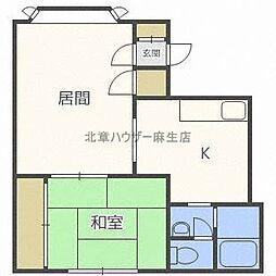 エステート新川[3階]の間取り
