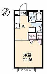 グレースN[2階]の間取り