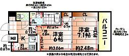 No.65 クロッシングタワーORIENT BLD.[18階]の間取り