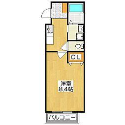 パレス龍大[2階]の間取り