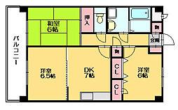 ルーセント篠栗[3階]の間取り