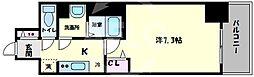 プリムール新深江 4階1Kの間取り