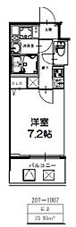 S-RESIDENCE新大阪Ridente[809号室号室]の間取り