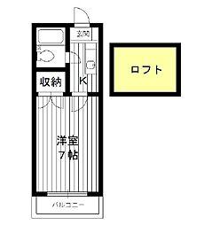 東京都豊島区長崎の賃貸アパートの間取り