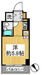 ルネ和田町[617号室]の間取り