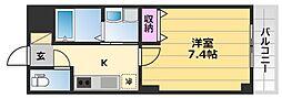 Le bonheur de 三国ヶ丘 1階1Kの間取り