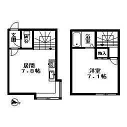 北海道札幌市豊平区平岸二条3丁目の賃貸アパートの間取り