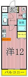 モアルヤタ藤[1階]の間取り