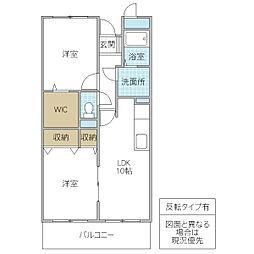 木村ロイヤルマンション III[203号室号室]の間取り