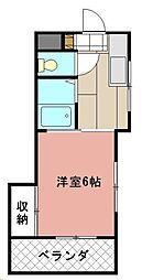 SHATORE SANGAMORI[203号室]の間取り