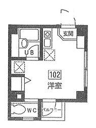 東京都中野区鷺宮6丁目の賃貸マンションの間取り