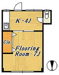 第2酒井マンション[2階]の間取り