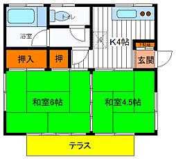 [一戸建] 東京都立川市栄町4丁目 の賃貸【/】の間取り