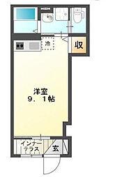 神奈川県川崎市多摩区三田4丁目の賃貸アパートの間取り
