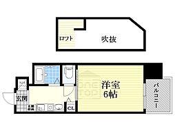 エステムコート大阪・中之島南[4階]の間取り