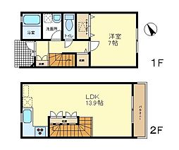 [テラスハウス] 東京都八王子市西片倉 の賃貸【/】の間取り