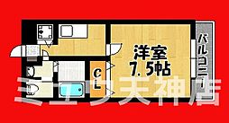 福岡県福岡市中央区六本松3丁目の賃貸マンションの間取り