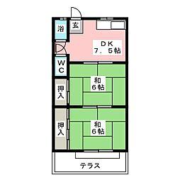 大野荘B棟[1階]の間取り