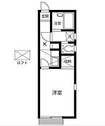 神奈川県相模原市南区相模台6丁目の賃貸アパートの間取り