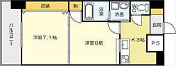 No65クロッシングタワ-ORIENT BLD[16階]の間取り