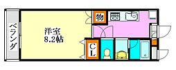 LEO弐拾弐番館[1階]の間取り