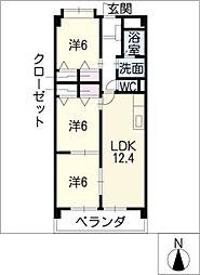 サンクレージュ[2階]の間取り