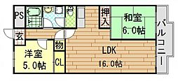セントラルハイツ[7階]の間取り