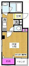 東京都北区中里2丁目の賃貸マンションの間取り