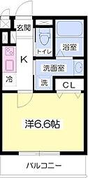 サンジコート姫路駅南[402号室]の間取り