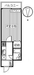 コスモ前橋昭和町[312号室号室]の間取り