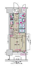 Osaka Metro堺筋線 天神橋筋六丁目駅 徒歩7分の賃貸マンション 3階1Kの間取り