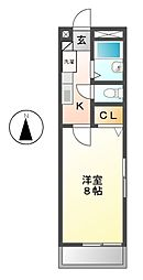 アンプルールリーブルK[1階]の間取り