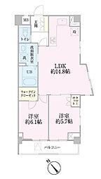 中新井サンライトマンション[501号室]の間取り