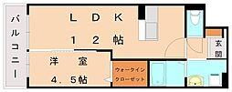 レジェンドソーラー日蒔野[4階]の間取り