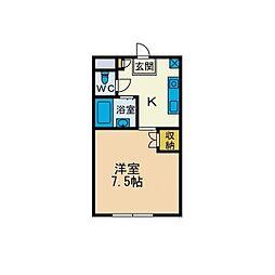KIハイムD棟[1階]の間取り