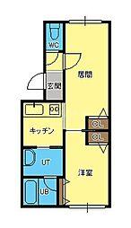 ジラ・ソーレII[3階]の間取り