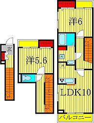 サニーフィールドII[3階]の間取り
