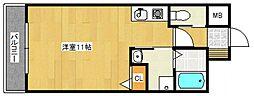 HILLS六ツ門[3階]の間取り