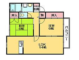 サンガーデン篠栗[2階]の間取り