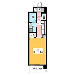 静岡県静岡市清水区三保の賃貸マンションの間取り